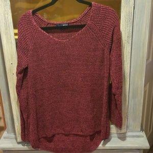 Basic Editions. L Burgundy Sweater. B046